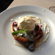 Spiced prune tarte tatin with ginger ice cream