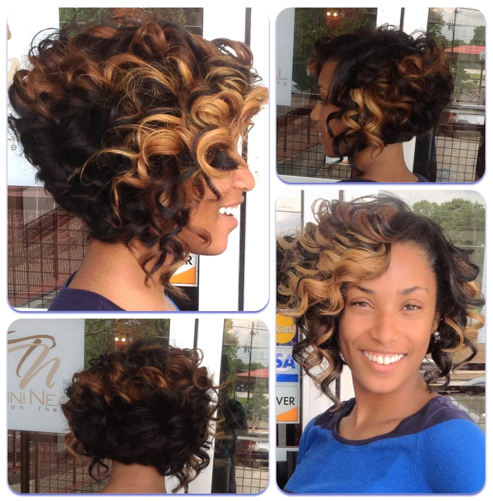 Asymmetrical Color Bob Sew Ins | Short Hairstyle 2013