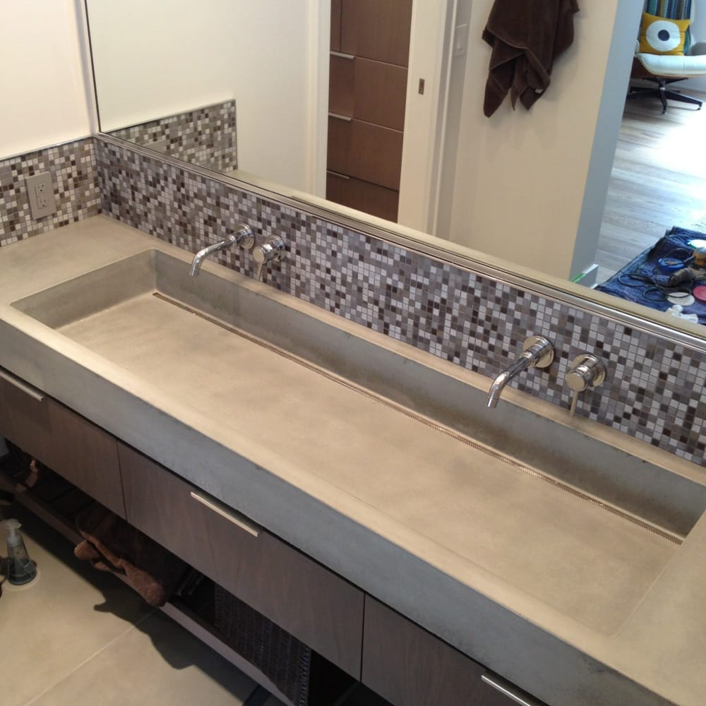 Concrete Trough Sink : Concrete trough sink with slot drain Yelp