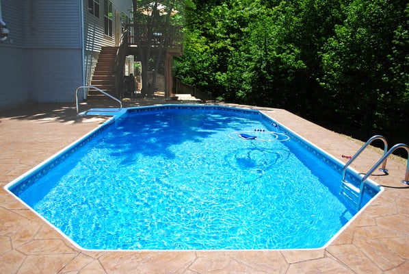 New in ground grecian shaped swimming pool yelp for Grecian pool shape