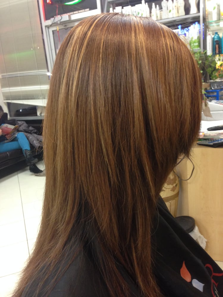Partial Highlights : Partial Highlights Brown Hair Dark Brown Hairs