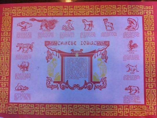 2014 chinese zodiac placemat