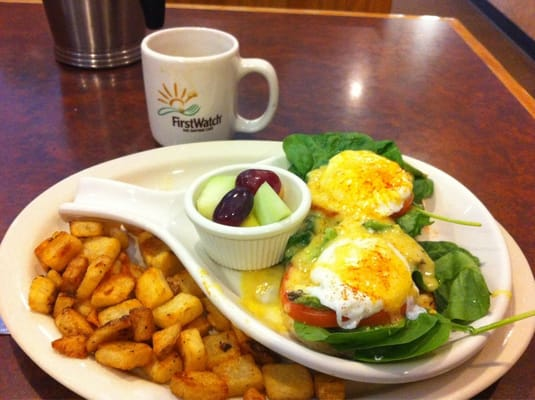 Veggie eggs Benedict: avocado, spinach and tomato | Yelp