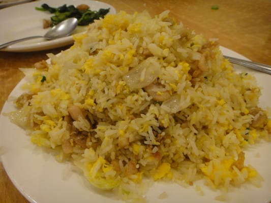Salty fish fried rice for Fish fried rice