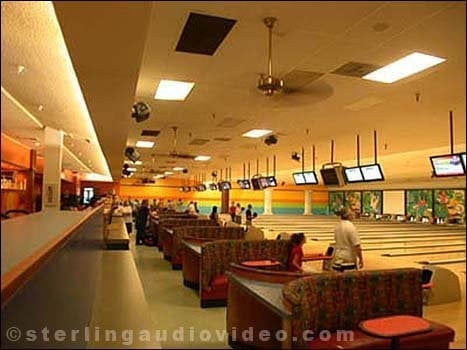 Jewel City Bowl Glendale Installed 48 Flat Screens Both