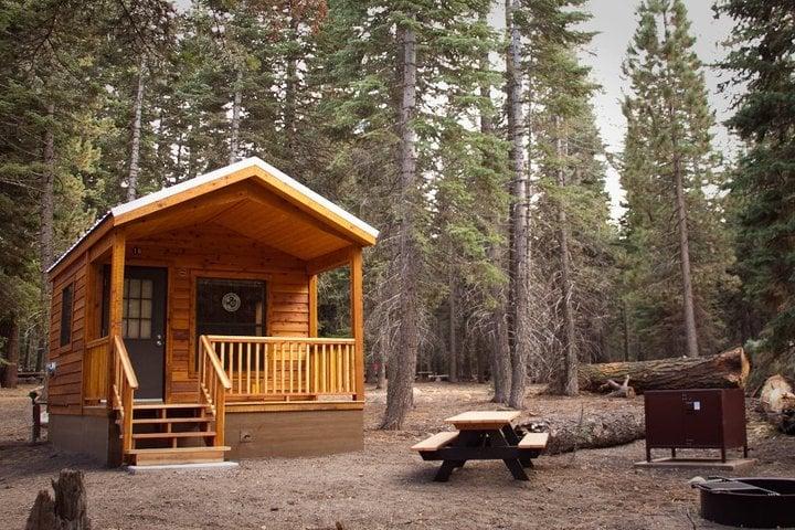 Photos for manzanita lake camping cabins yelp for Lassen volcanic national park cabins