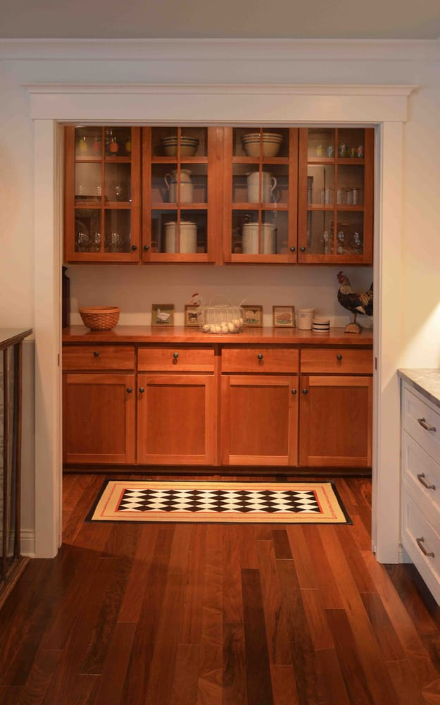 Walk in pantry designed re using the original kitchen for Walk in pantry cabinets