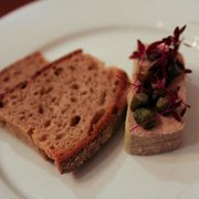 Chicken liver parfait with capers and toast