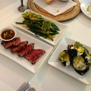 Yellowfin, Green Beans, and Roasted Aubergine