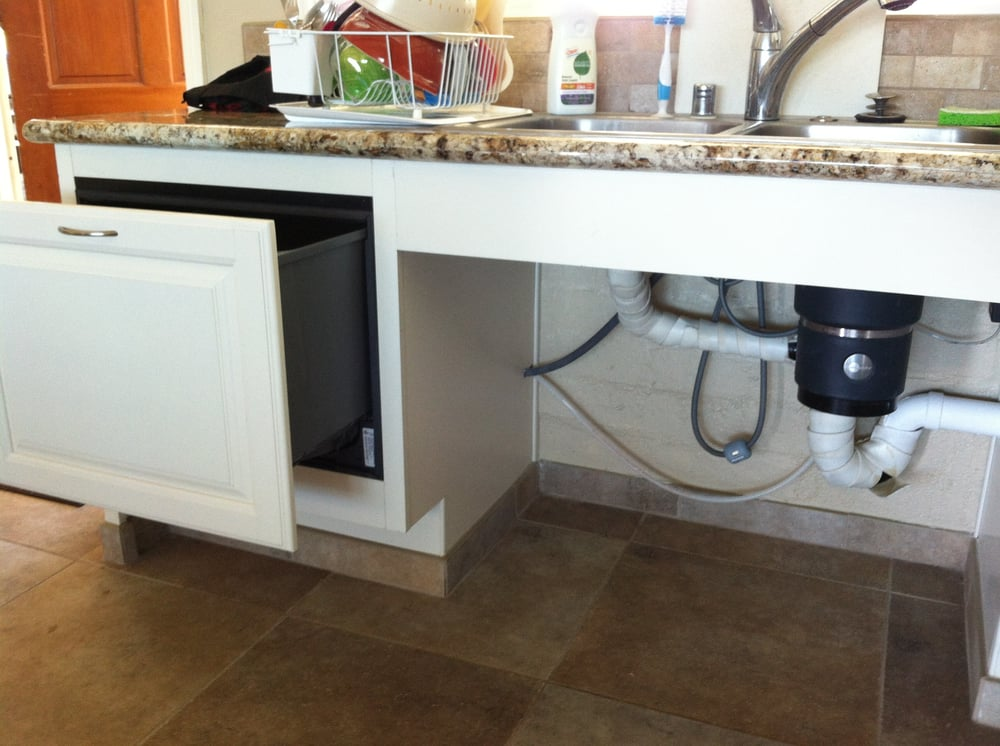 Pull Under Sink And Hidden Pull Out Drawer Dishwasher Yelp