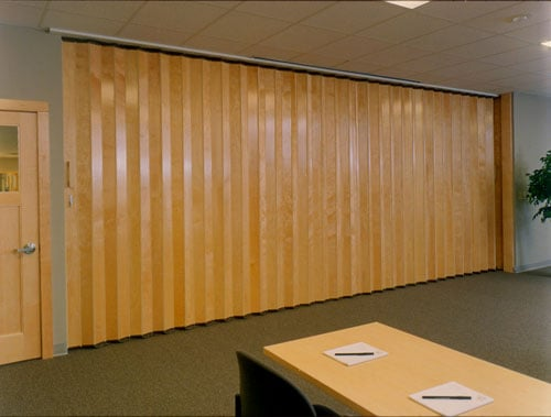 Interior wood folding doors and room dividers yelp for Commercial accordion doors interior