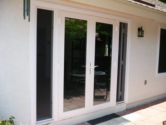 Retrofit french door withoperational sidelights yelp for Sliding french doors with sidelights