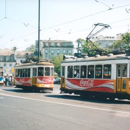 Don't worry.  If you miss a Tram 28, another one will be right behind it. Again, seen here near the western terminus in Estrela.