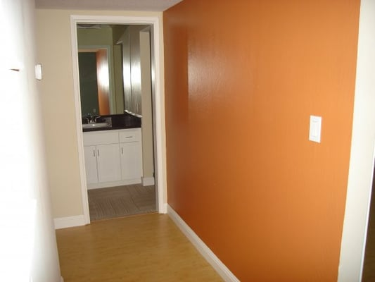 another accent wall color choice in hallway yelp