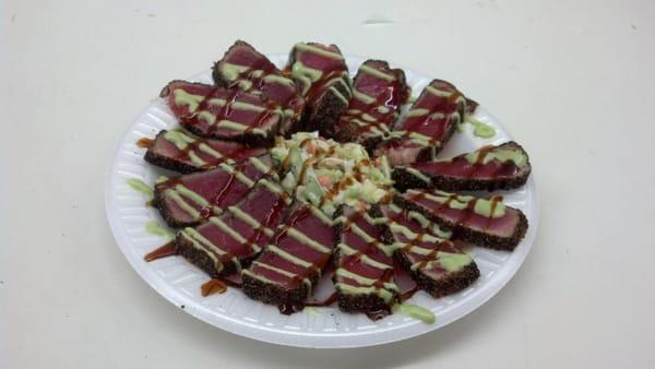 New menu item! Seared ahi tuna with wasabi aioli and kabayaki sauce ...