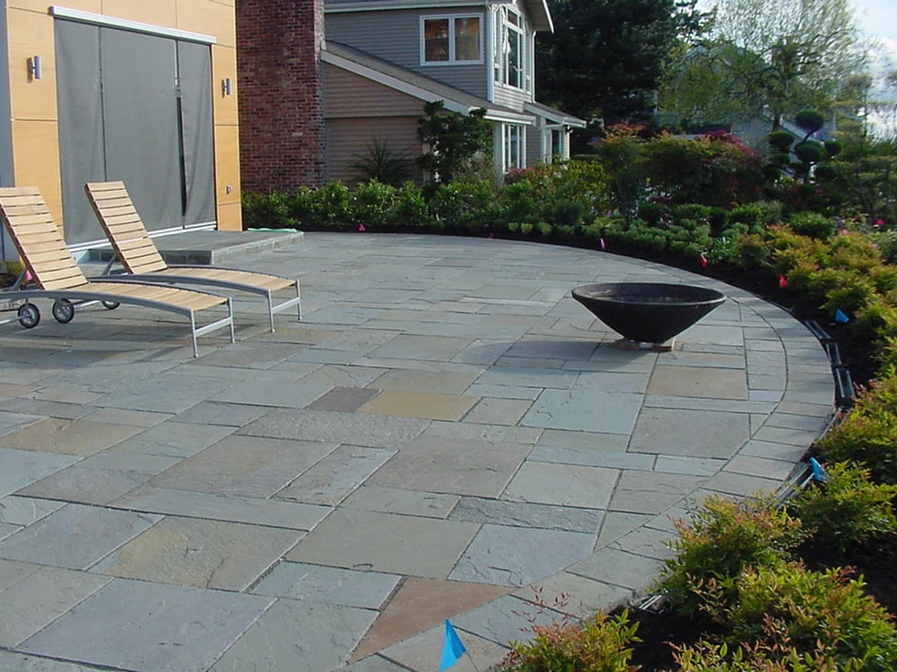 Backyard covered patios - Dimensional Bluestone Patio On Cover Of Magazine Yelp