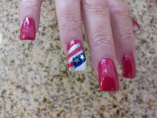 Patriotic nail design for the 4th of July | Yelp