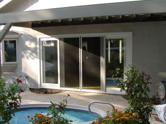 4 panel french look vinyl sliding glass door yelp for Vinyl sliding glass doors