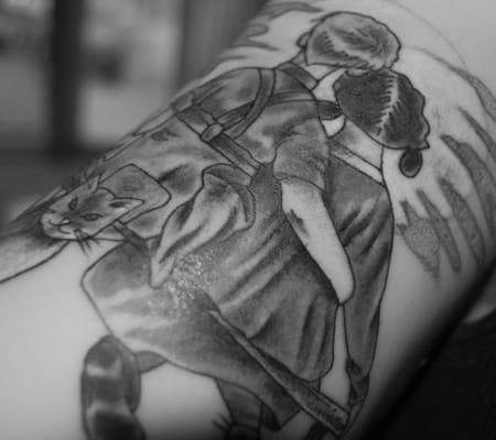 Norman rockwell tattoo by ahren bloomquist yelp for Norman rockwell tattoo