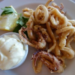 Deep fried squid with mayonnaise, £10.50.