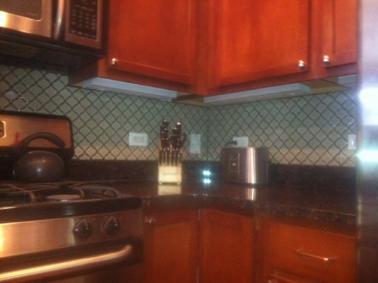 historic lantern style tiled backsplash yelp