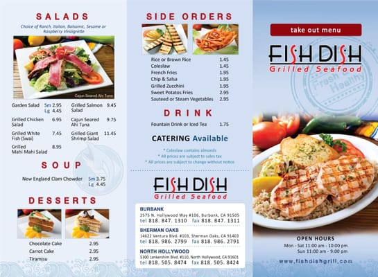 Fish dish new menu yelp for Fish dish sherman oaks