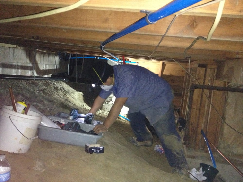 Crawl space pex re pipe yelp for Crawl space plumbing