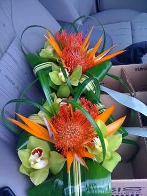 Tropical Bridal Bouquet for my wedding They were perfectly recreated from