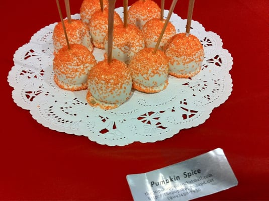 Pumpkin Spice Mini Cake Pops | Yelp