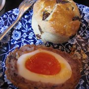 Raisin Scone & Scotch Egg
