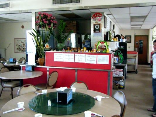 Chinese restaurant design cash register area most