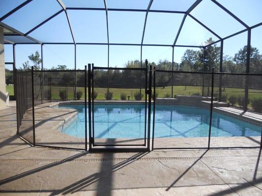 Sure guard pool fence closed contractors largo fl