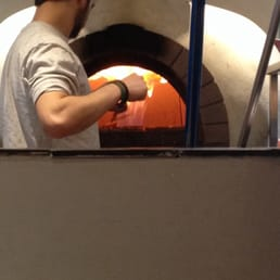 Wood oven at Sweet Thursday.