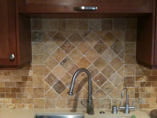 Travertine backsplash that we selected for a client yelp - Backsplash designs travertine ...