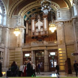 The grand organ and south entrance.