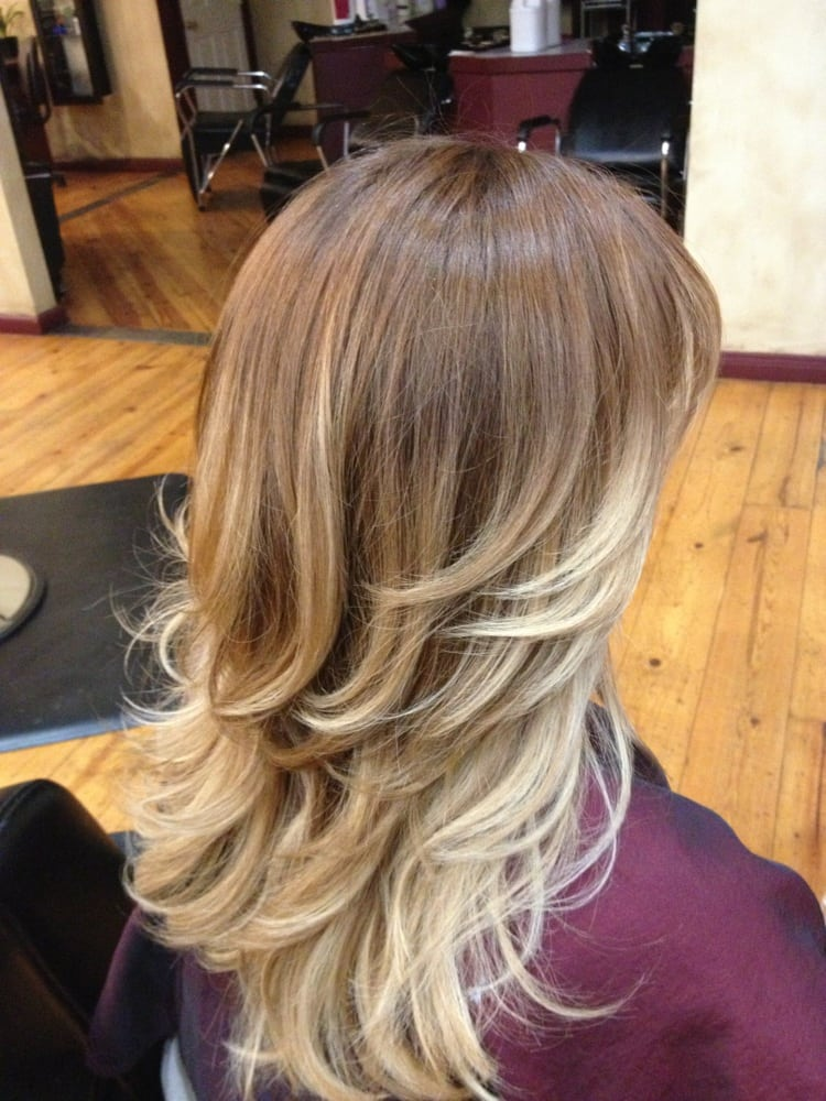 Ombr light brown to light blonde yelp for Blond braun ombre