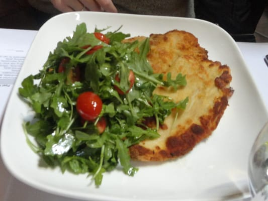 Lancaster Valley chicken Milanese w/tomato & arugula salad. | Yelp