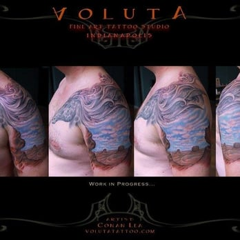 Voluta tattoo tattoo indianapolis in yelp for Tattoo parlors in indianapolis
