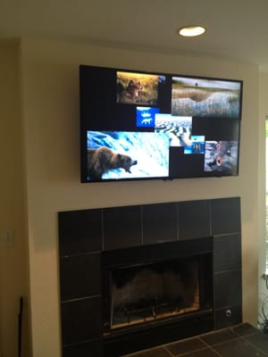 tv wall mount above a fireplace yelp