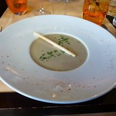 Amazing soup. I cannot describe how good this was.  Served chilled, pureed lentils and marscapone.