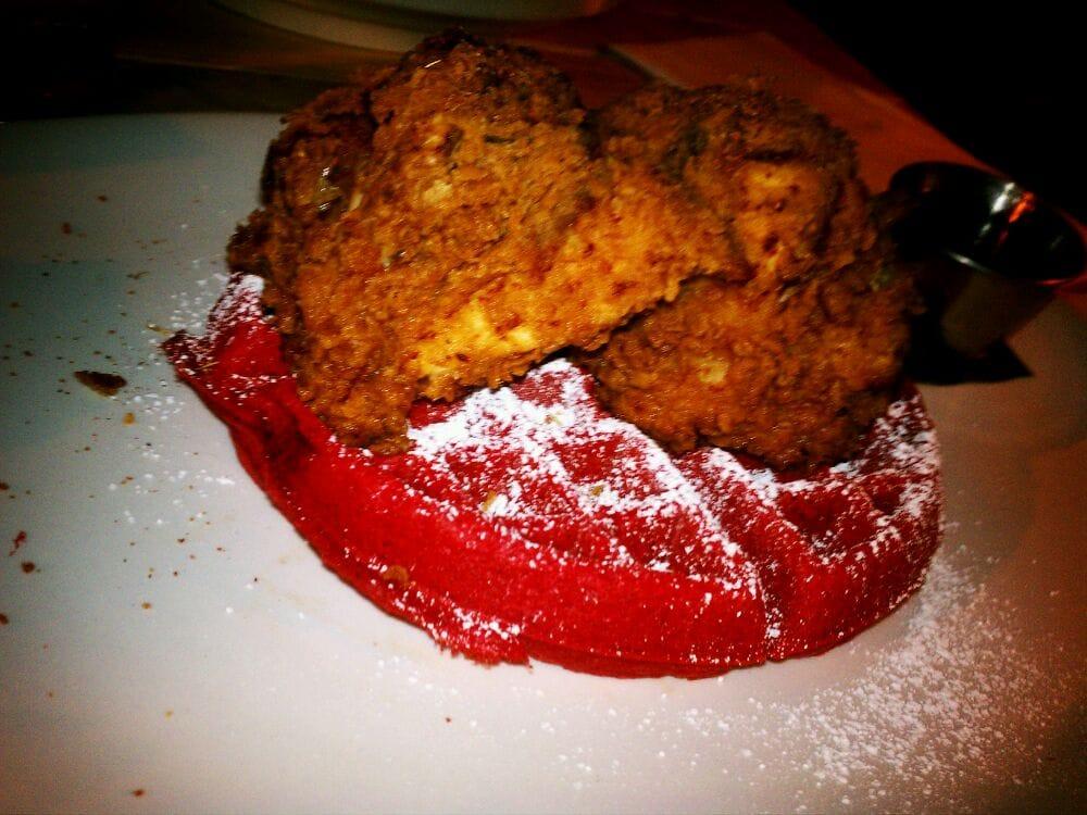Buttermilk fried chicken w/red velvet waffle | Yelp
