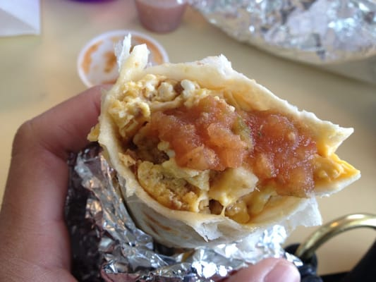 chorizo, egg, potato, and cheese breakfast taco | Yelp