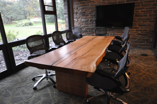 For The Love Of Liveedge Slabs - Wood slab conference table