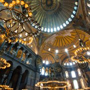 Heavenly light pours into the Hagia Sophia.