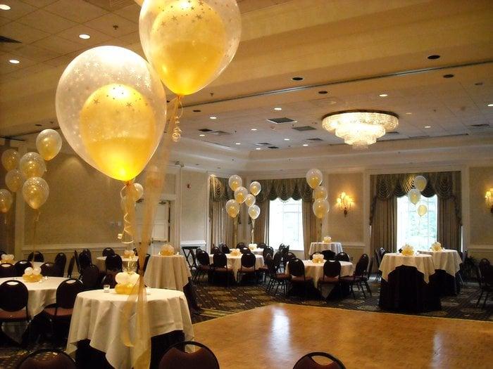 Ballroom christina villa balloon centerpieces yelp