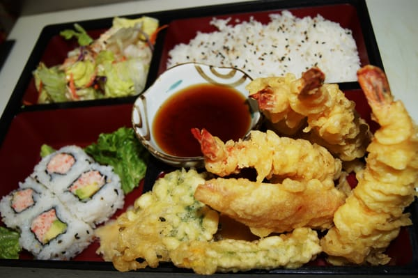 shrimp tempura bento box | Yelp