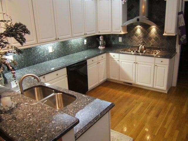 blue pearl kitchen w full granite backsplash yelp