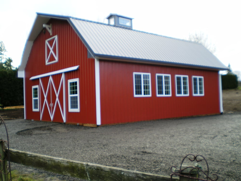 Pole barns with apartment above joy studio design for Gambrel garage kit