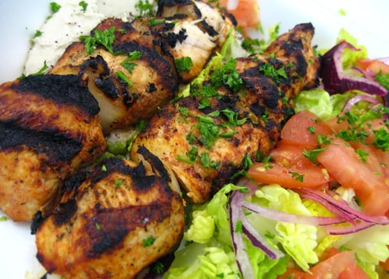 chicken kebab salad recipes dishmaps mediterranean chicken kebab salad ...