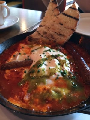 The Baked eggs Shakshouka